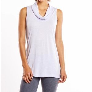 Lucy Lilac Cowl Neck Tank Top